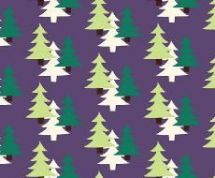 Fabric Freedom Camping - 4261 - Fir Trees on Plum - FF96-2 - Cotton Fabric
